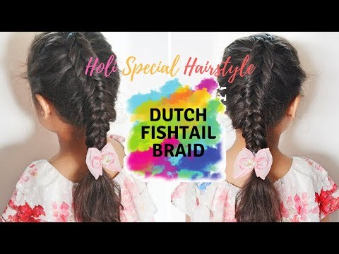How to:Dutch Fishtail Braid/Holi Special Hairstyle.
