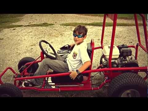 8 years old building a GoKart