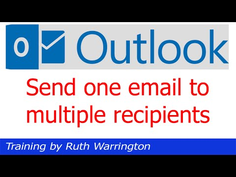 Outlook 2014 - How to send an email to multiple email addresses