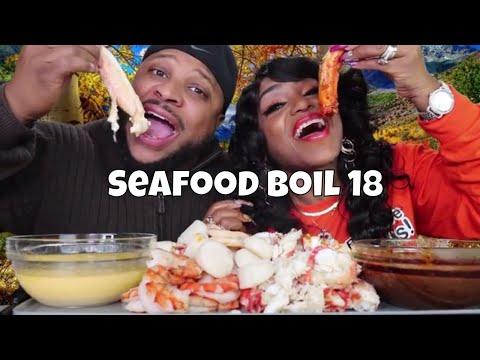 Seafood Boil 18 King Crab Legs, Tiger Shrimp, Scallops, Corn and Potatoes