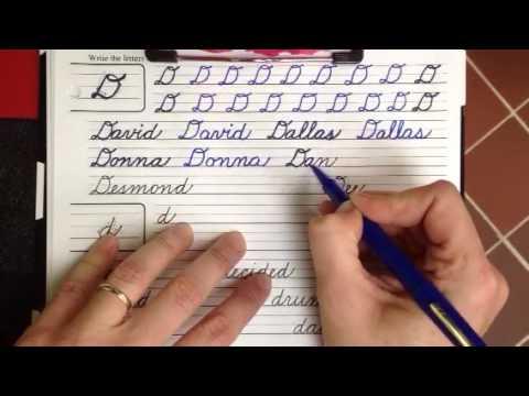 Cursive Capital D words