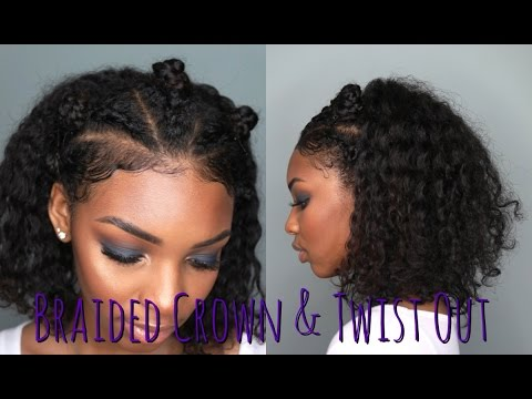 Braided Crown & Twist Out | Natural Hairstyles | Hairstyles for Curly Hair | Flawhs