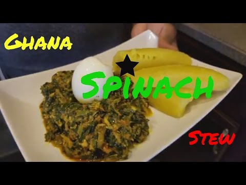 How to make Ghana Spinach Stew | Nkontomire