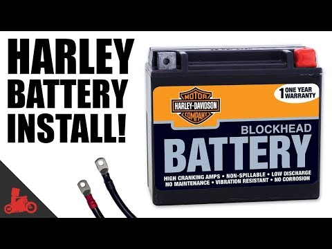 How To Change Battery on Harley Sportster!