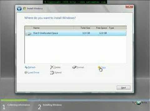 How to Perform Windows 2008 Core Server Installation
