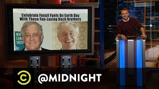 The Koch Brothers Celebrate Earth Day - @midnight with Chris Hardwick