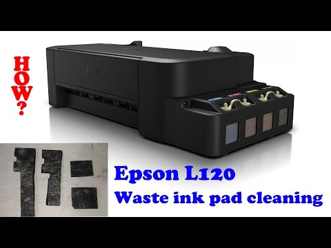 How to clean Epson L120 waste ink pad