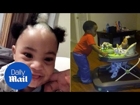 Two-year-old boy inherits white streak in his jet-black hair - Daily Mail