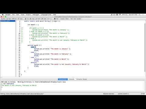 98. The switch statement - Learn Java