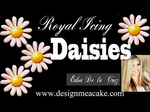 How to Make Daisies in Royal Icing.