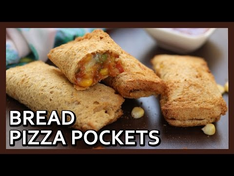 Bread Pizza Pockets | Make Veg Pizza McPuff at home | Airfryer Recipe by Healthy Kadai
