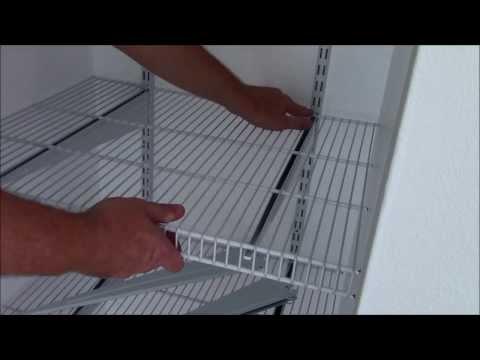 Install ClosetMaid ShelfTrack - In Depth