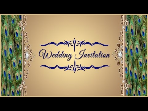 How to Design a Wedding Invitation Card Front Page in Photoshop ( in Tamil with ESubs )