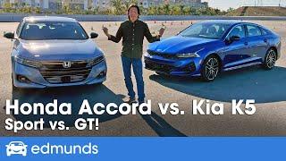Honda Accord Sport vs. Kia K5 GT Comparison Test | Which Sport Sedan Is Best? | Price, Specs & More