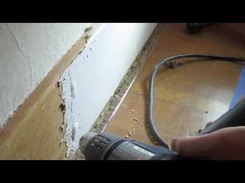 Baseboard Paint Stripping with Heat Gun