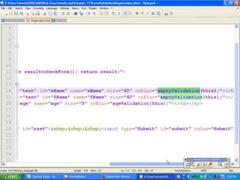 Javascript Bangla Tutorial::Ch11: Form Validation in Javascript - Part 1