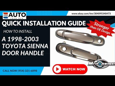1998-2003 Toyota Sienna Door Handle Repair Video