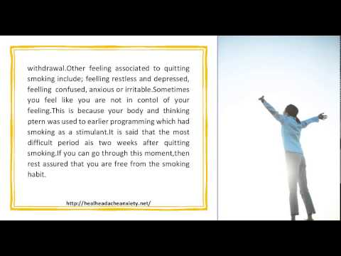 Is there link between quitting smoking and depression