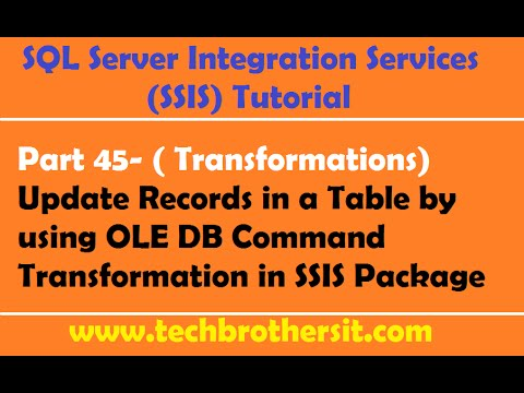 SSIS Tutorial Part 45-Update Records in a Table by using OLE DB Command Transformation