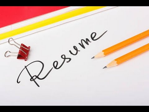 How to write your first Resume -- Interview Tips