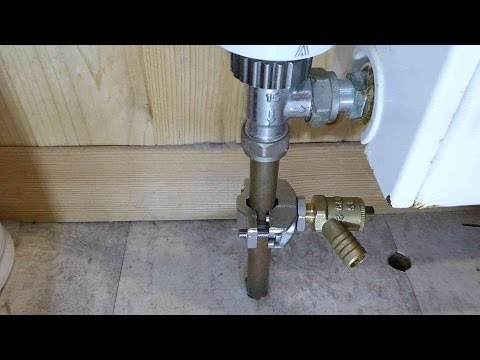 How to fit a drain cock without draining down the heating system