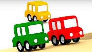 Lehrreicher Zeichentrickfilm Die 4 Kleinen Autos Das Blaue Auto