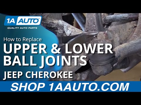 How to Replace Install Front Upper & Lower Ball Joints 90-01 Jeep Cherokee