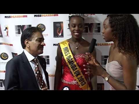 Baba Khalid Sheikh with Miss Uganda Uk 2013