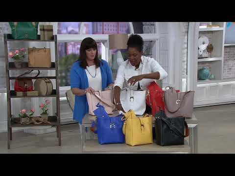 Dooney & Bourke Saffiano Leather Shoulder Bag - Ashby on QVC