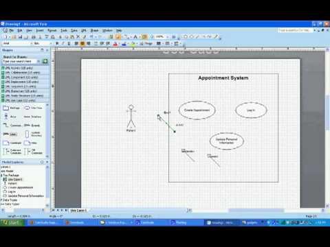 UML Use Case Diagrams in Visio 2007