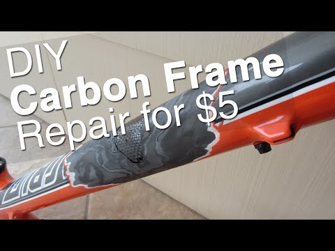 DIY Carbon Bike Frame Repair || Tools, Supplies, How To, Step by Step