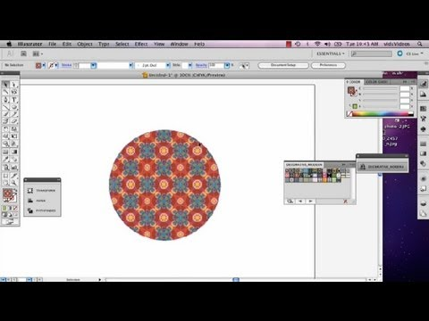 Trimming a Square to a Circle in Illustrator : Adobe Illustrator