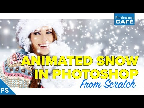 How to make  ANIMATED SNOW in PHOTOSHOP overlay for photos or video