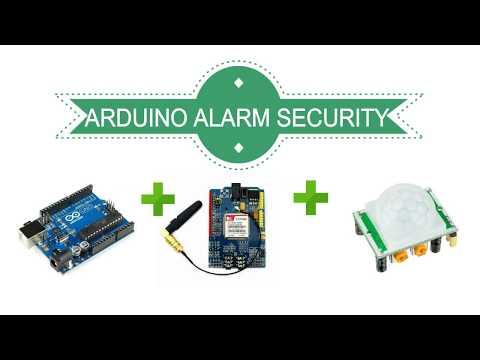 Arduino alarm security system sms message (arduino+GSM+PIR) أردوينو
