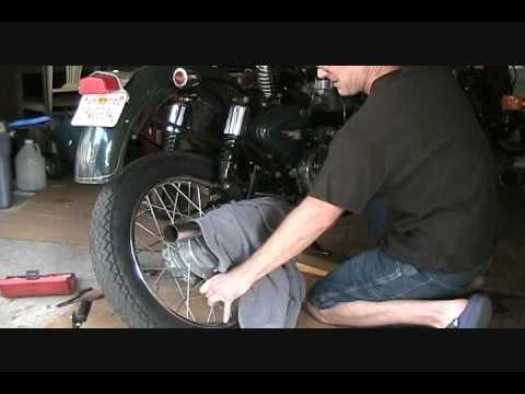 How To Change A Royal Enfield Bullet Classic Motorcycle Tire