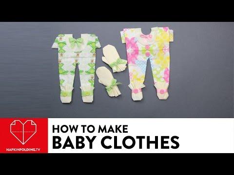 Baby Clothes - DIY Napkin Folding