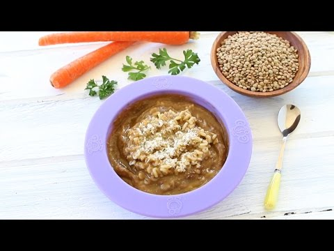 Lentil soup with pasta - baby food recipe +9M