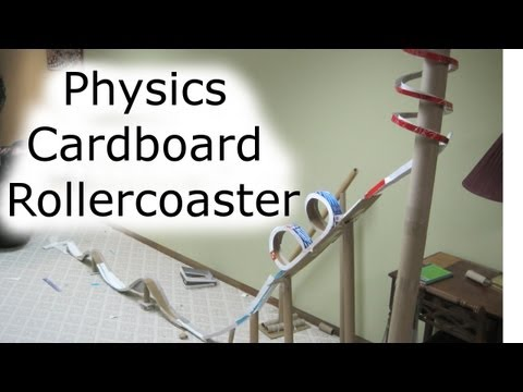 How To: Build a Cardboard Rollercoaster (Physics Class)
