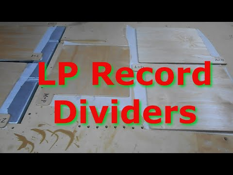 Easy LP Record Dividers