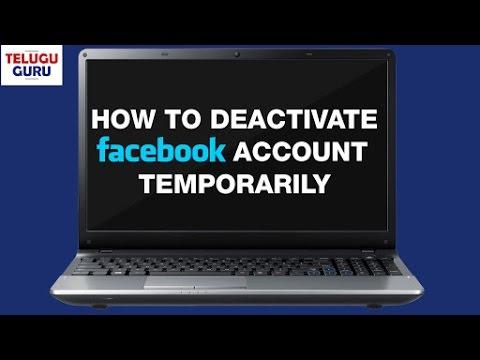 How to Deactivate Facebook Account Temporarily | Facebook.com | Telugu Guru