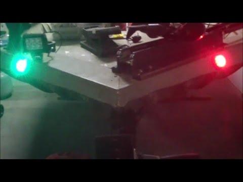 Marine Raider or Shoreline Marine LED Jon Boat Navigation Lights - Side Mount