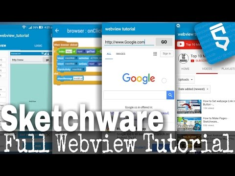 Webview Tutorial - Load webpages in app - Sketchware (android)Tutorial