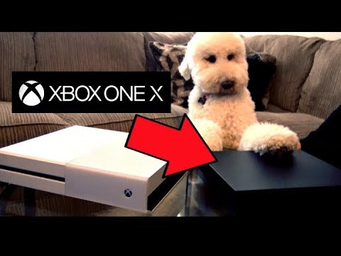 Unboxing NEW 4k Xbox One X (Project Scorpio) Finnley Approves XB1X