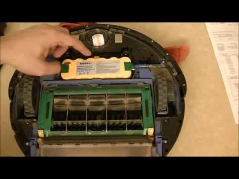 IRobot Roomba 500 600 How to replace a dead Battery Guide