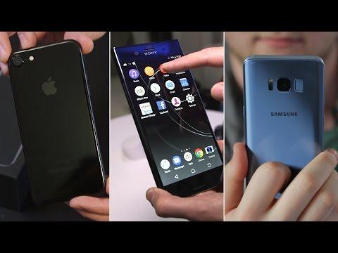 Samsung Galaxy S8 vs Sony Xperia XZ Premium vs iPhone 7: clash of the YouTube titans