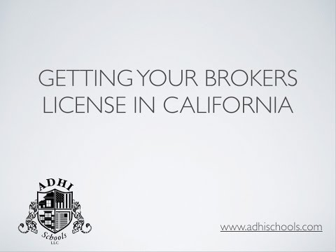 California real estate brokers license requirements