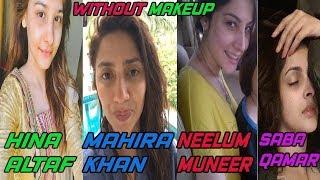 With and without makeup photos of famous pakistani actresses (Hina altaf, Sana javed, Saba Qamar)