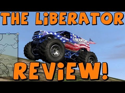 GTA 5 Online | Liberator Monster Truck!! | Test Drive, Review, Car Crushing!