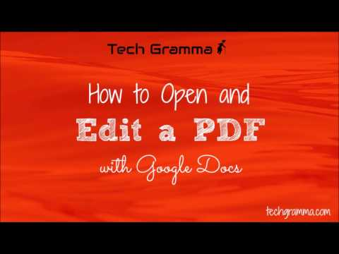 How to Open and Edit a PDF with Google Docs
