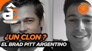 ¡Qué impresionante! El argentino que se parece a Brad Pitt y sorprende en redes